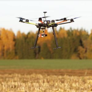 Monitoramento de lavoura com drone