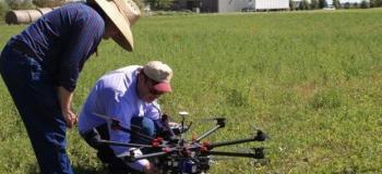 Serviço de manutenção de drone